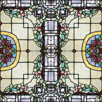 Free Red Rose Border Stained Glass Stepping Stone Pattern