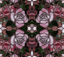 free rose stained glass